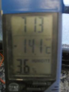 Termometro marca -14,1ºC